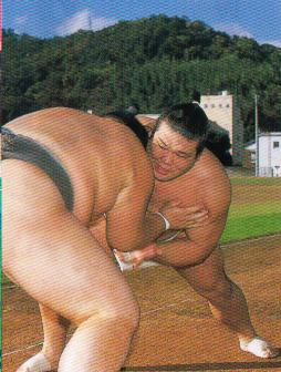 相撲 山稽古